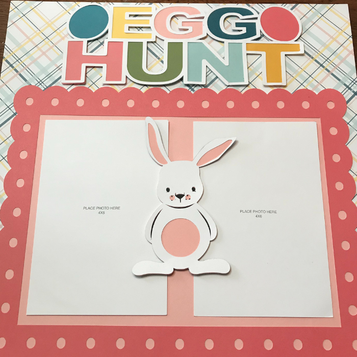Easter Scrapbook page with Cricut