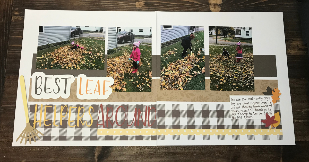 Easy Scrapbook layout for beginners