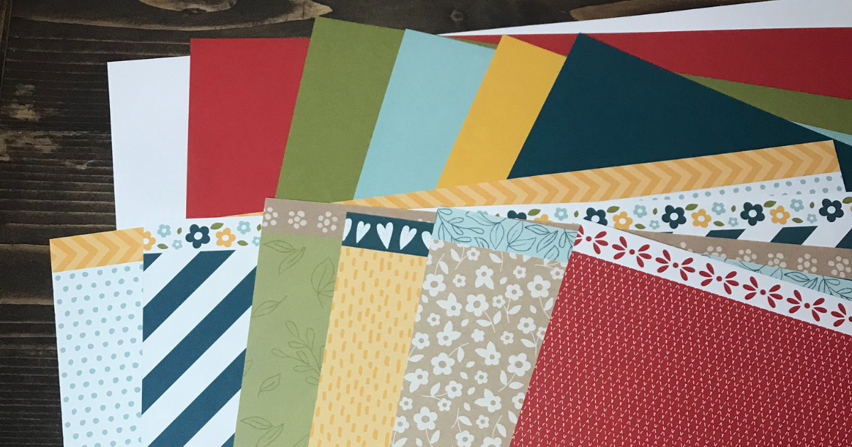 Use a variety of patterned scrapbook paper and card stock for your scrapbook album