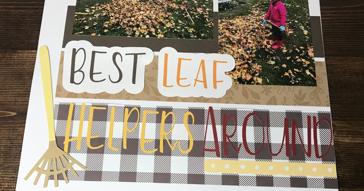 Beginner scrapbook page tip is to give each page a title