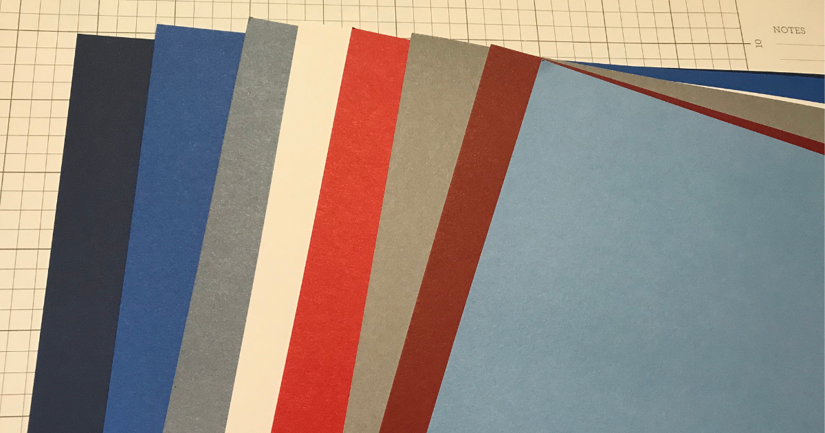 CTMH Card stock for the Cricut Patriotic Scrapbook page