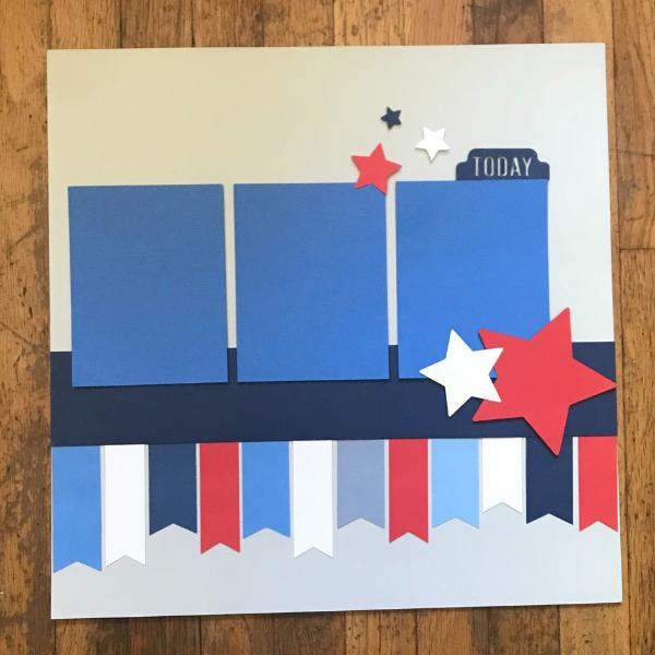 Cricut Patriotic Scrapbook design