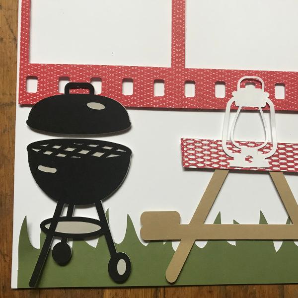 cute Cricut designs for a picnic scrapbook layout