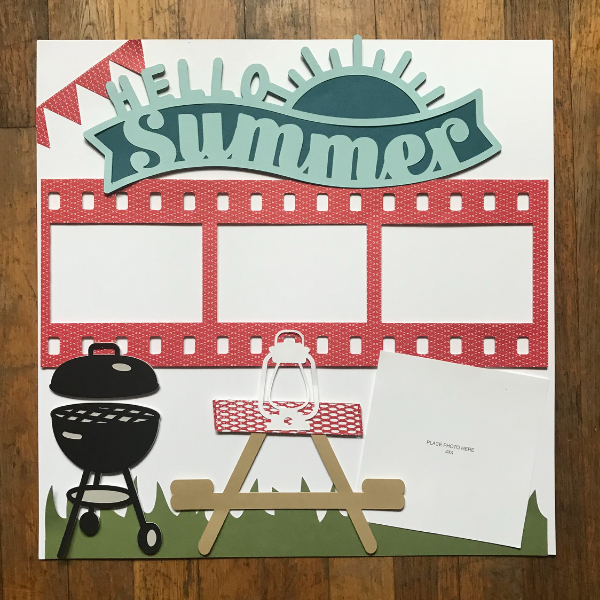Picnic scrapbook layout created with the Cricut Maker