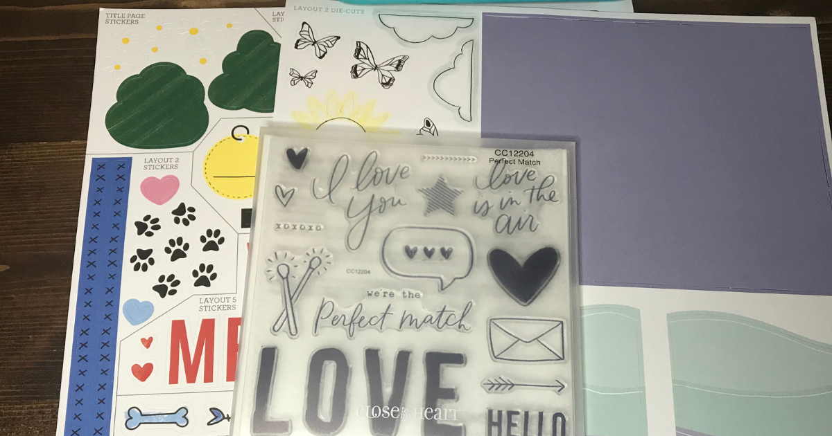 scrapbook page tip for beginners is to use a variety of embellishments