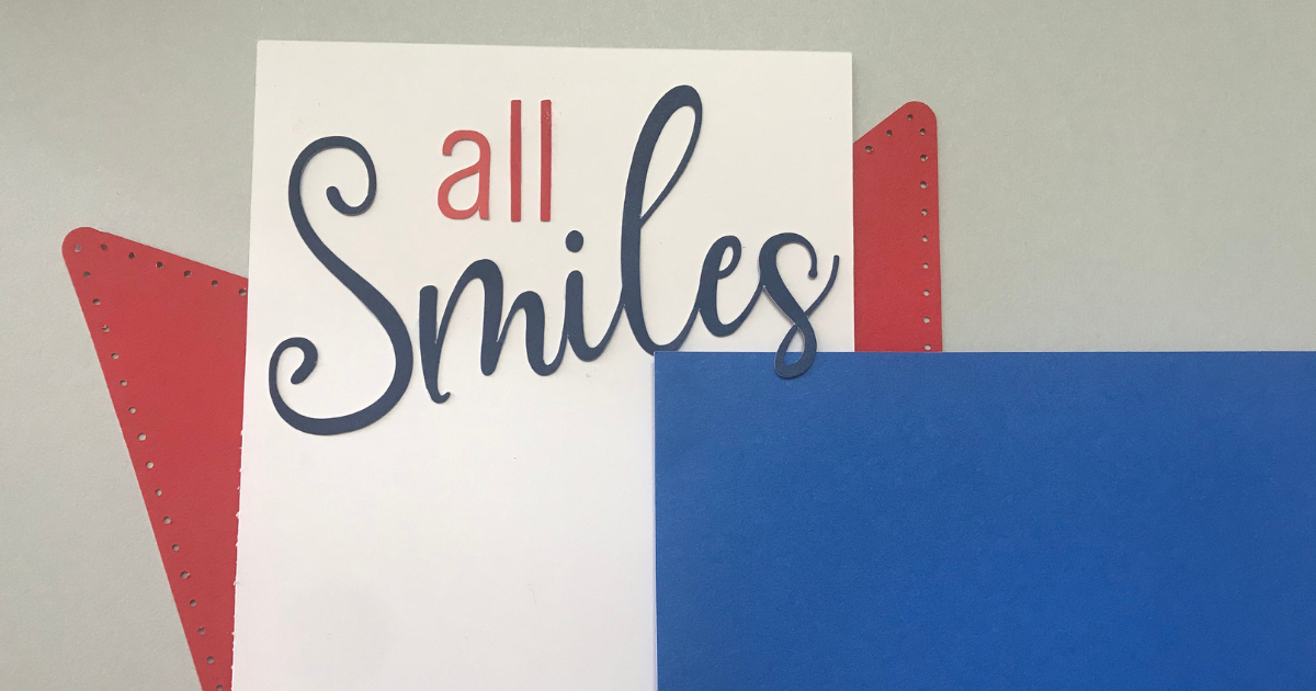 Add a title to the Cricut Scrapbook page