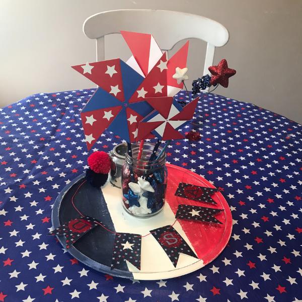 4th of July Cricut craft with a Cricut pinwheel