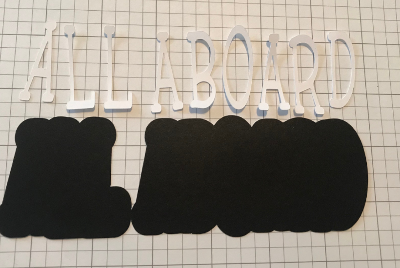 Offset Text in Cricut Design Space for Scrapbook Page Titles