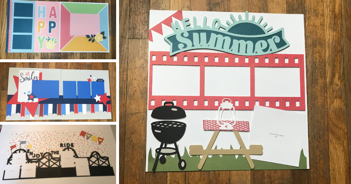 Cricut Scrapbook Pages to Make in Cricut Design Space with Layouts