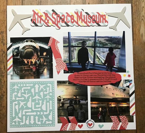 Cricut Travel Scrapbook Page