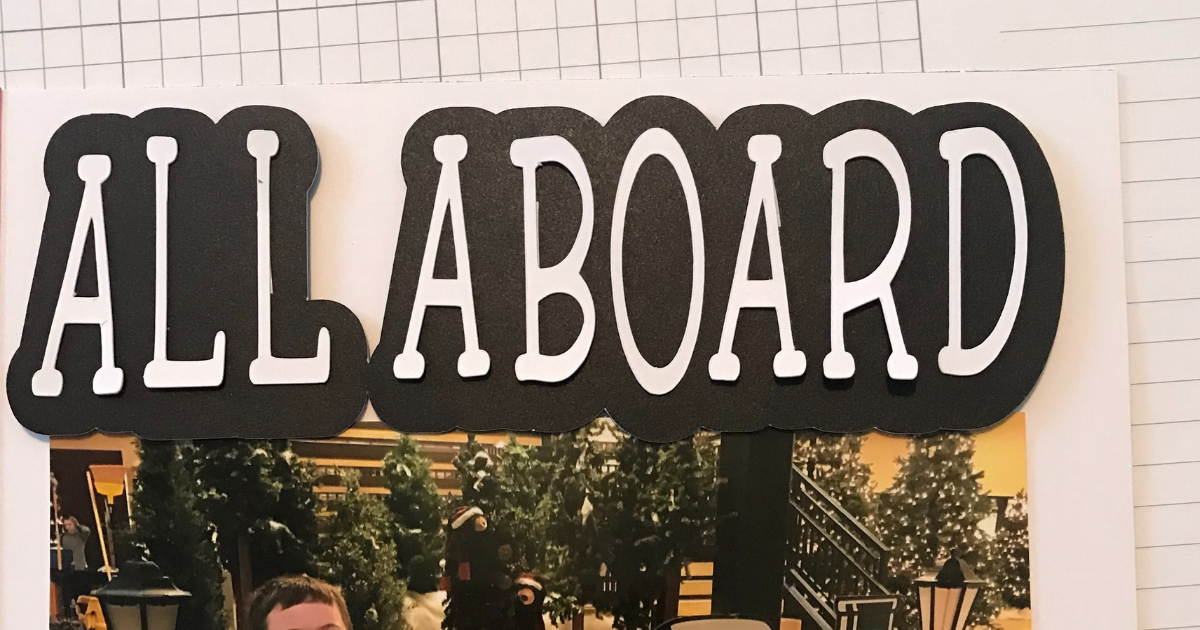 Offset Text in Cricut Design Space for Scrapbook title