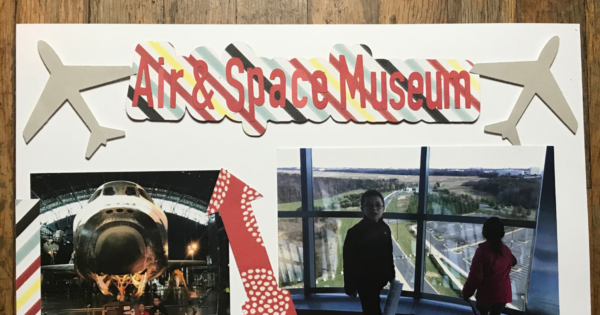 Offset Title in Cricut Design Space Travel Scrapbook Page