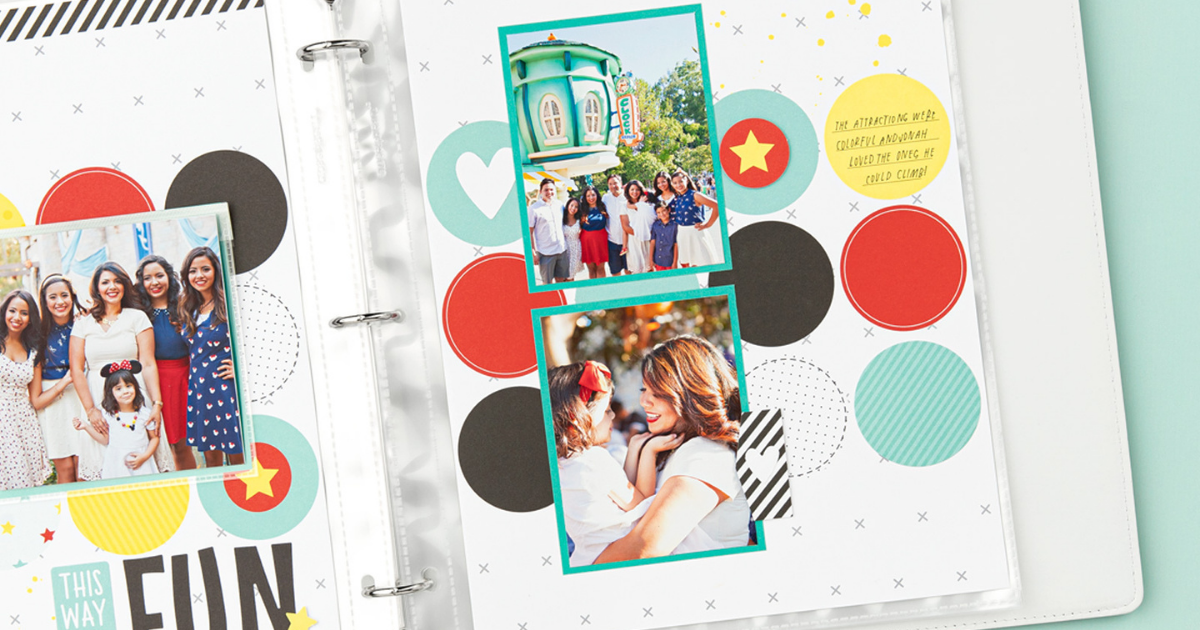 CTMH Happiest Place Scrapbook Page Ideas