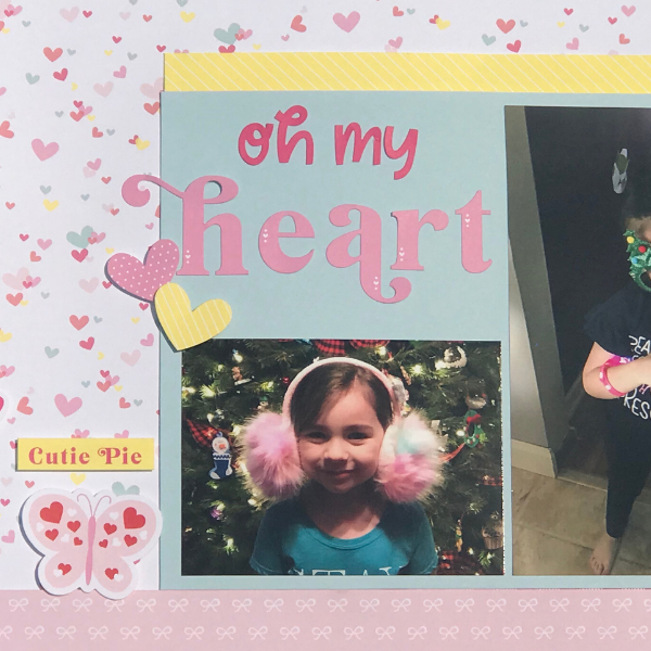 one way to make a scrapbook page is to add on stickers