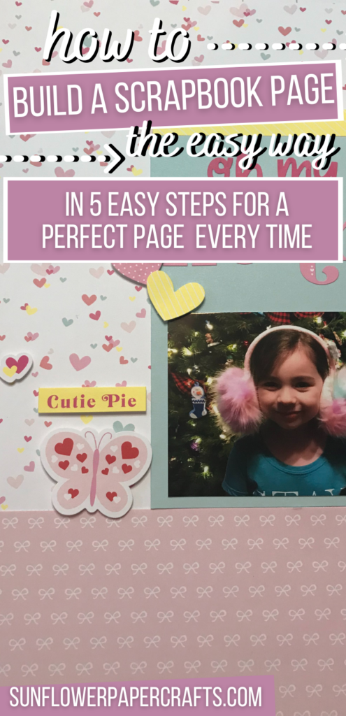 ways to make a scrapbook page step by step