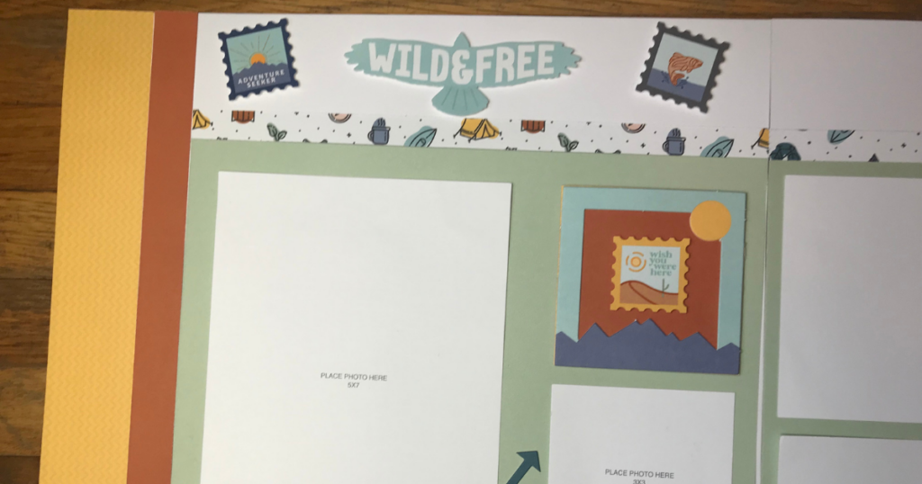 Fun Outdoor Scrapbook Pages and layouts for 12x12 scrapbook paper