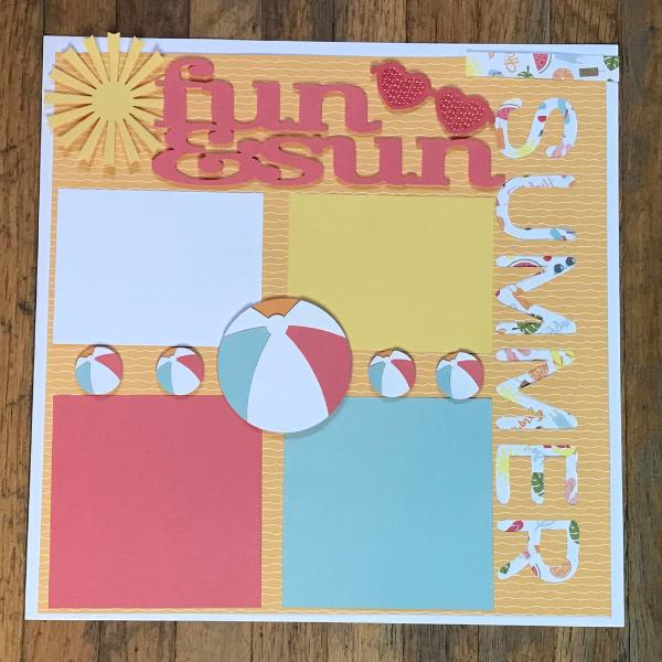 Fun and Sun summer themed scrapbook