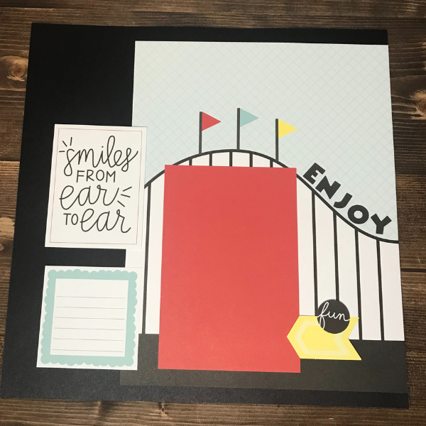 Happiest Place Scrapbook Page