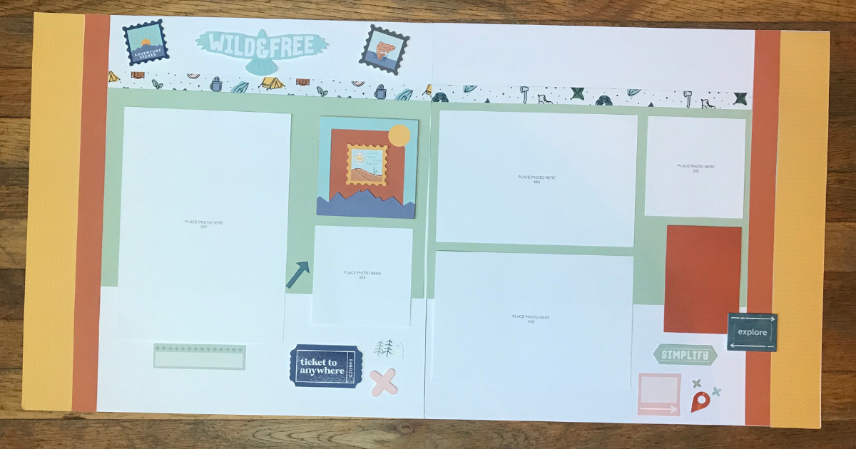 quick great outdoors scrapbook pages
