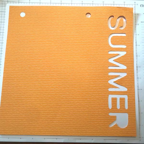 Summer Photo Mat Image on Cricut summer scrapbook