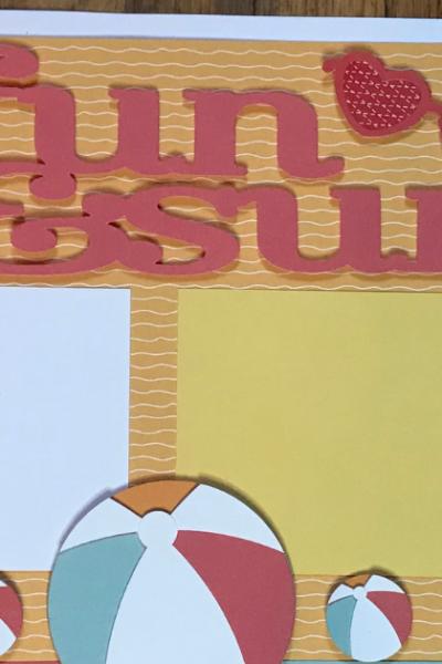 Fun & Sun: Cricut Summer Scrapbook Page