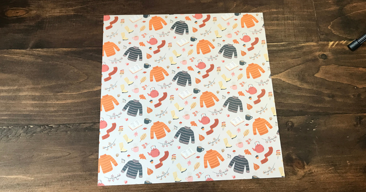 CTMH Pumpkin Spice base paper for easy fall scrapbook layout