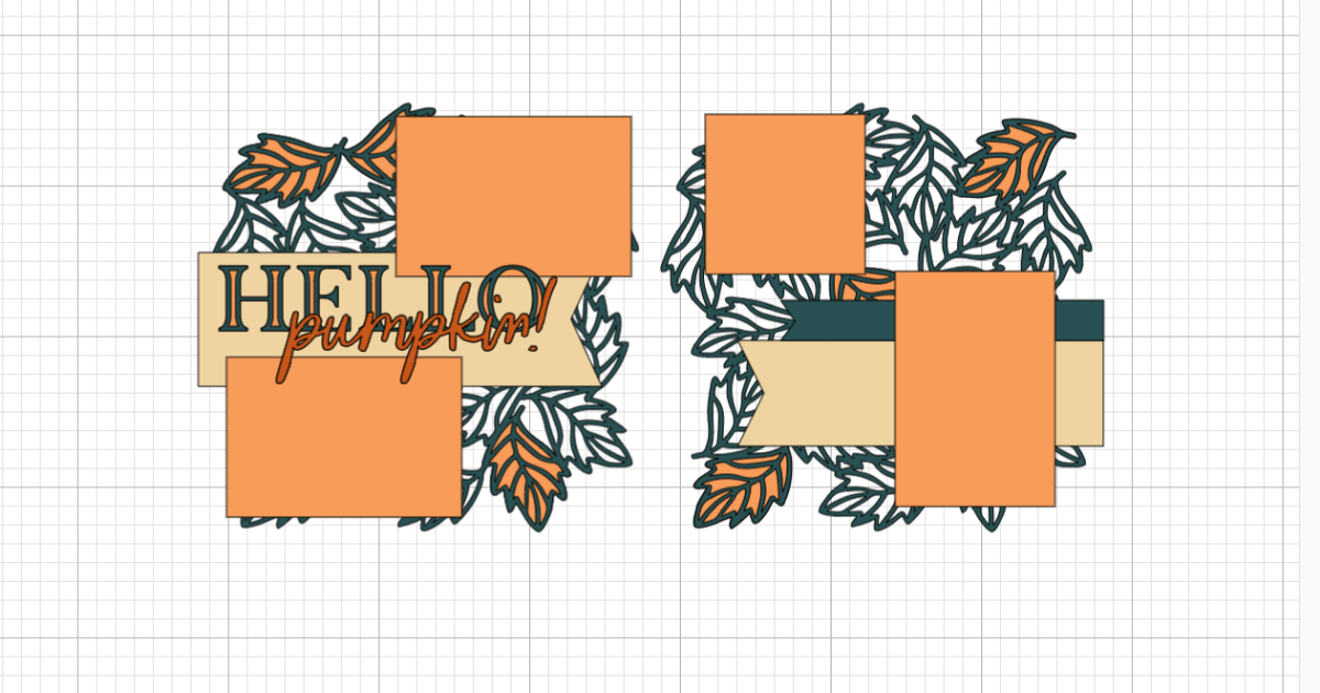 CTMH pumpkin spice scrapbooking svg file in Cricut Design Space