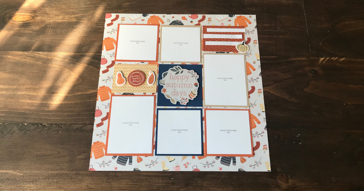 Easy Fall Scrapbook Layout