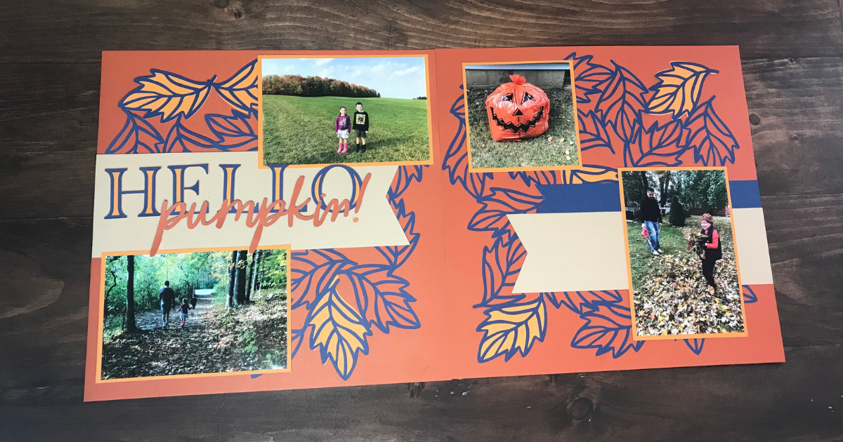 Fall Scrapbook Page with CTMH SVG