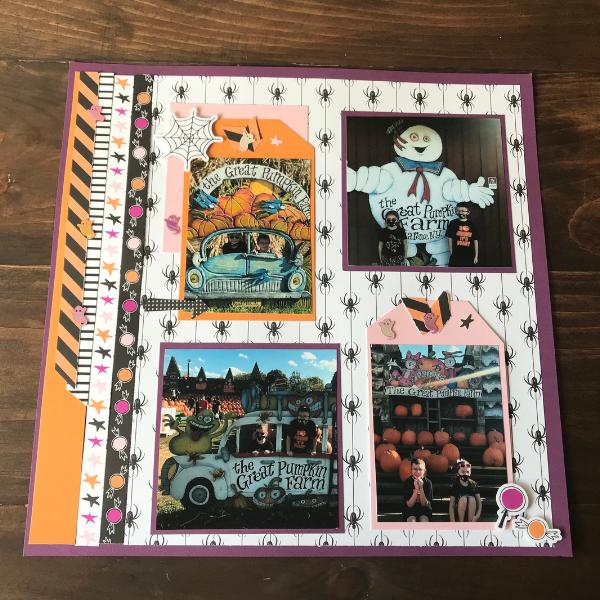 Halloween Scrapbook Page Layout
