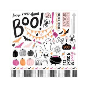 Halloween stickers for scrapbook page ideas