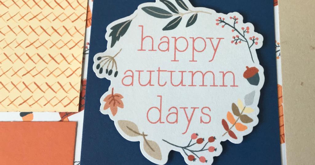 Happy Autumn Days scrapbook page