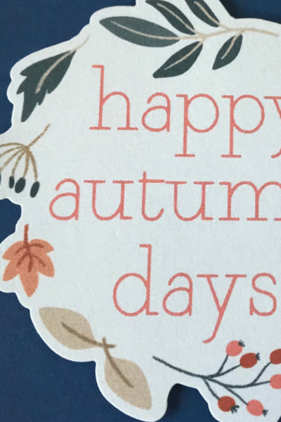 Easy Fall Scrapbook Layout- Happy Autumn Days