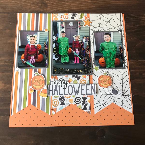 Happy Halloween Scrapbook Layout