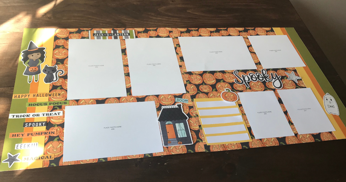 Pumpkin Carving double page layout