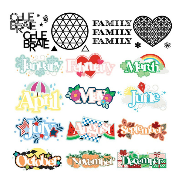 SVG Cut files for paper crafting and scrapbook pages