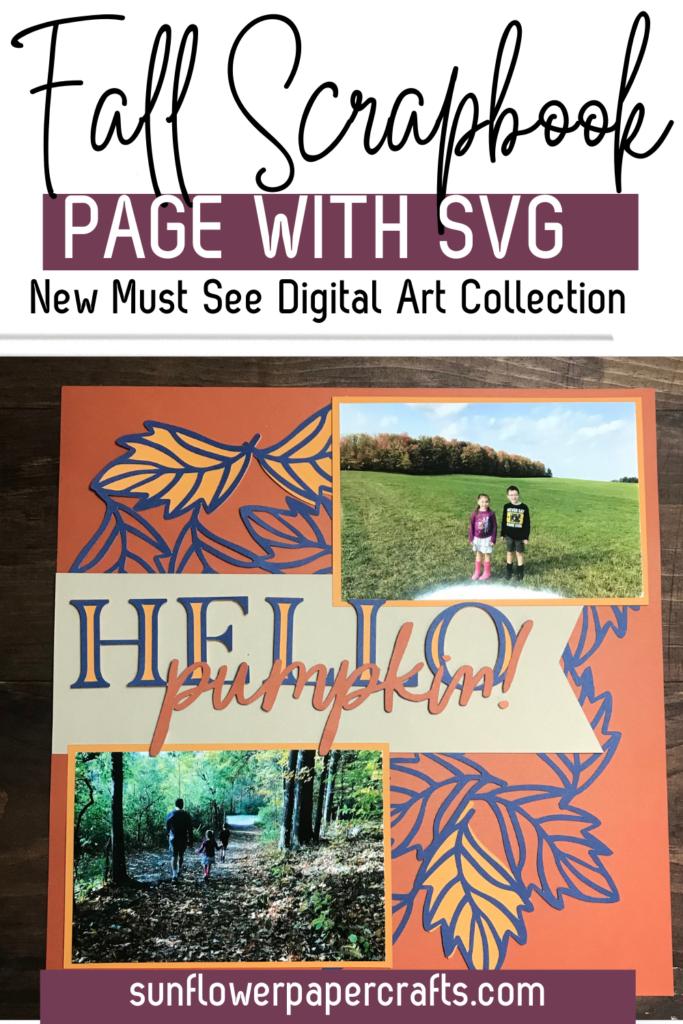 Fall Scrapbook Page
