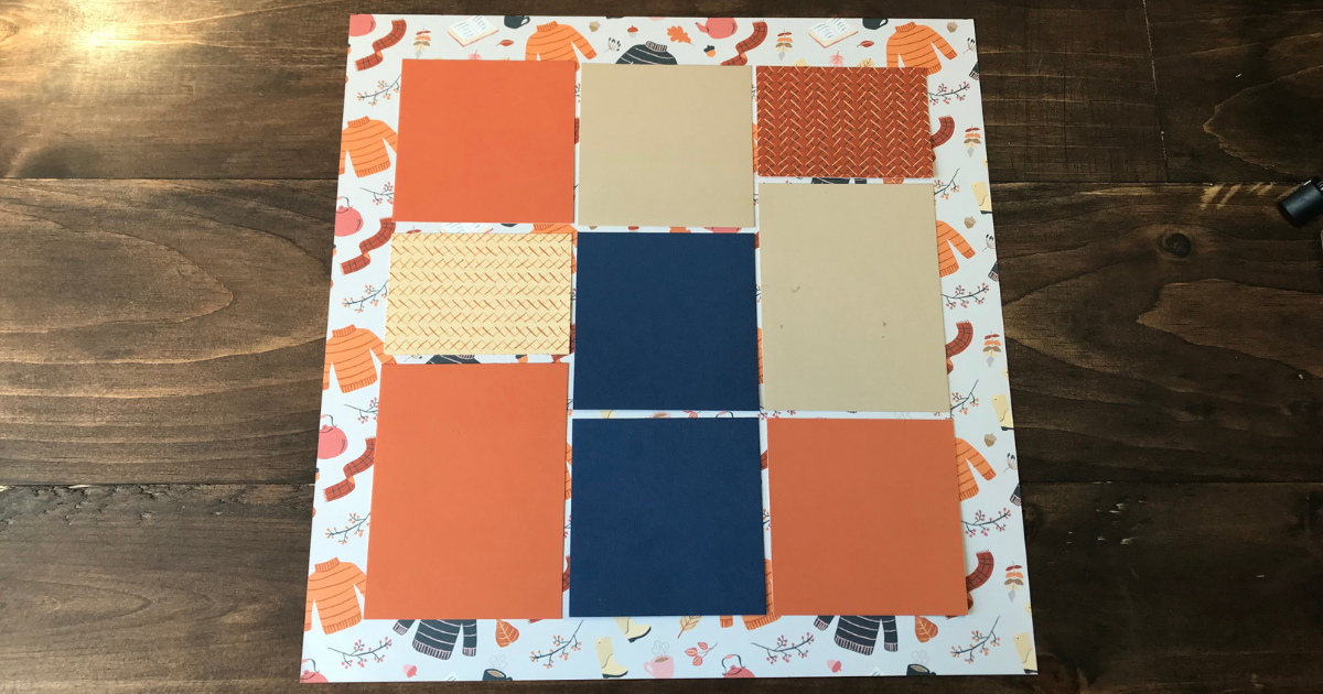 simple and easy fall scrapbook page layout