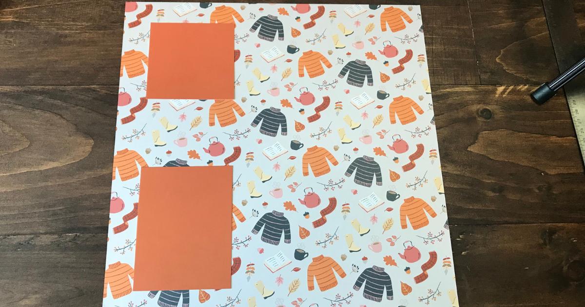 Simple fall scrapbook layout