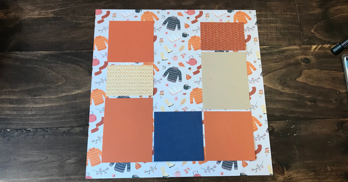 Simple fall scrapbook page design