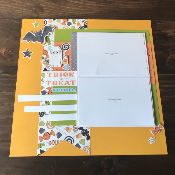 Trick or Treat Scrapbook Page