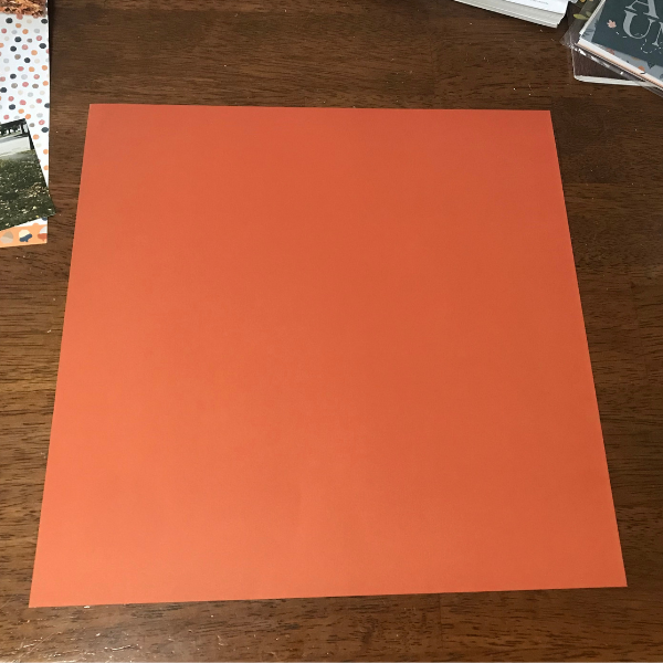Use paprika as the base for the fall scrapbook page