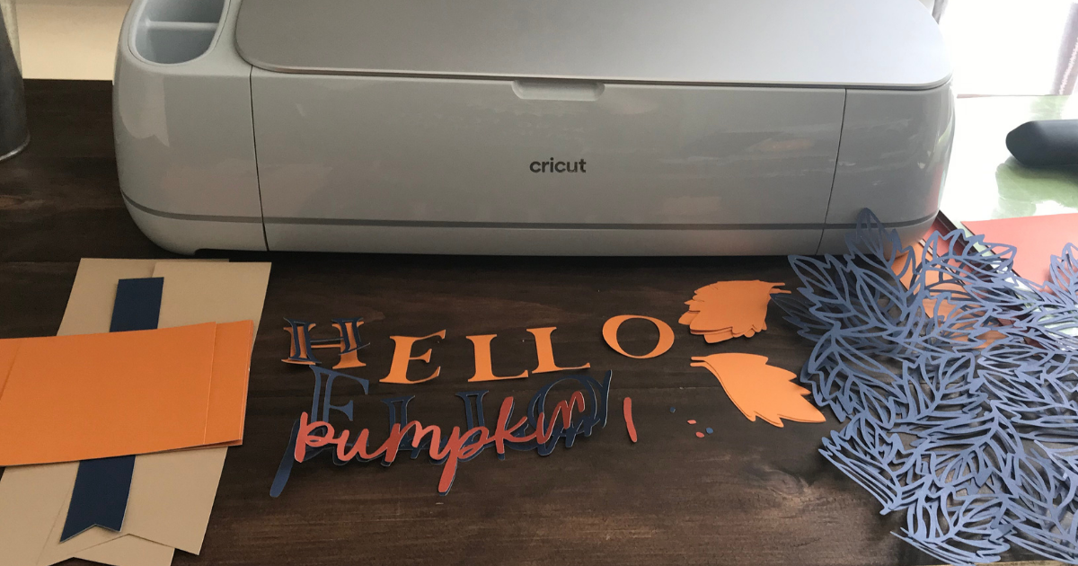 Fall Scrapbook page svg cut with Cricut maker 3 and card stock