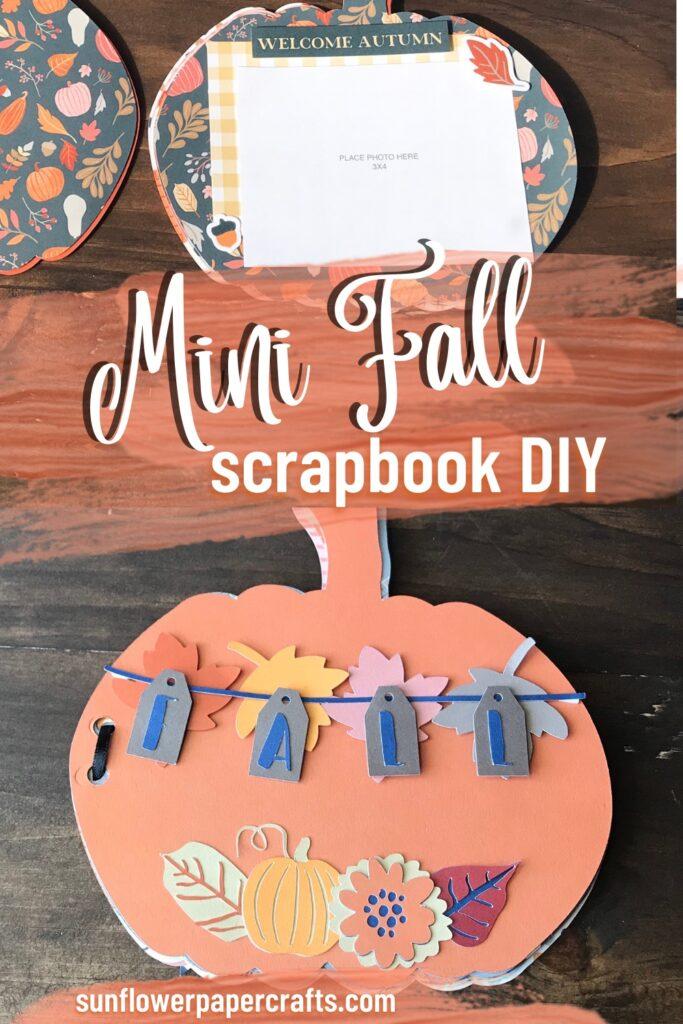 Mini Fall Scrapbook DIY